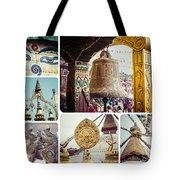 Collage Of Kathmandu  Tote Bag