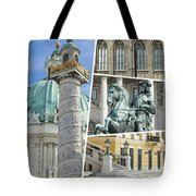 Collage Of Vienna Tote Bag