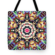 Colorful Concentric Abstract Tote Bag