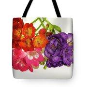 Colorful Freesia Tote Bag