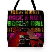 Colorful Music Rock N Roll Guitar Retro Distressed  Tote Bag