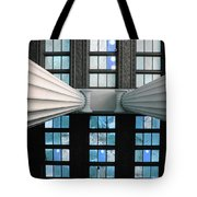 2 Column Stain Blue Tote Bag