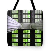 2 Column Stain Green Tote Bag