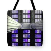 2 Column Stain Purple Tote Bag