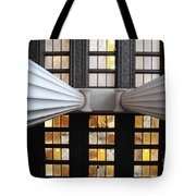 2 Column Stain Yellow Tote Bag
