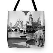 Coney Island: Luna Park Tote Bag