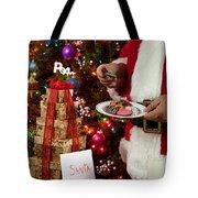 Cookies And Milk For Santa Tote Bag