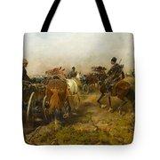Cossacks Returning Home On Horseback Tote Bag