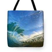 Crashing Wave Tube Tote Bag