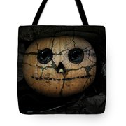 Creepy Halloween Pumpkin Tote Bag