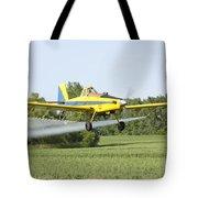 Crop Dusting Plane Tote Bag