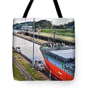 Crossing Panama Canal Tote Bag