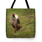 Crowing Pheasant Tote Bag