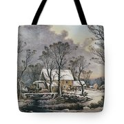 Currier & Ives: Winter Scene Tote Bag