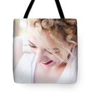 Cute Curly Blond Girl  Tote Bag