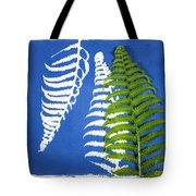 Cyanotype Print, Fern Tote Bag