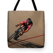 Cycle Racing On The Curve Tote Bag