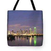 Dallas Skyline Twilight Tote Bag