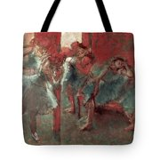 Dancers At Rehearsal Tote Bag by Edgar Degas