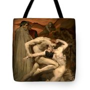Dante And Virgil In Hell  Tote Bag