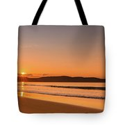 Dawn Seascape With Clouds Tote Bag