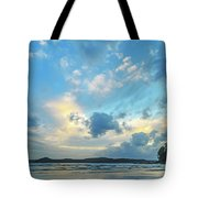 Dawn Seascape With Cloudy Sky Tote Bag