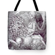 Death Devil And Maiden Tote Bag