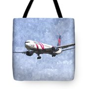 Delta Airlines Boeing 767 Art Tote Bag