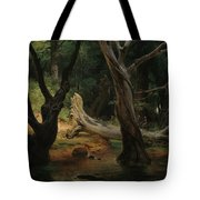 Departure For The Hunt In The Pontine Marshes Tote Bag