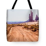 descending into Monument Valley at Utah  Arizona border  Tote Bag