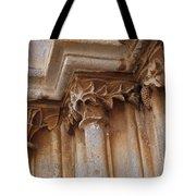 Detail Of The Medieval Portal Of Saint Marys Church In Tavira. Portugal Tote Bag