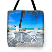 Dinner On The Beach Tote Bag