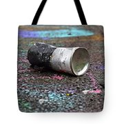 Discarded Spray Paint Can Tote Bag
