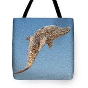 Dolphin Shell Art Sculpture Tote Bag