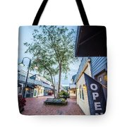 Downtown Of Newport Rhode Island At Dusk Hours Tote Bag