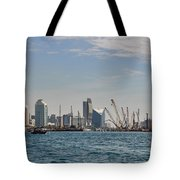 Dubai Creek And Abra Boats Tote Bag