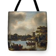 Dutch Landscape With Fishers Tote Bag