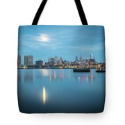 early morning sunrise over city of philadelphia PA Tote Bag