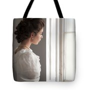 Edwardian Woman At The Window Tote Bag