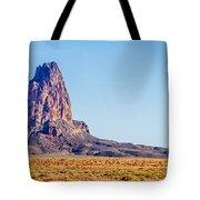 El Capitan Peak Just North Of Kayenta Arizona In Monument Valley Tote Bag