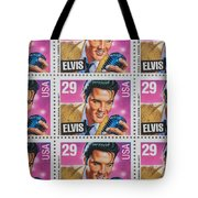 Elvis Commemorative Stamp January 8th 1993 Painted  Tote Bag