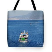 Emborio Harbour On Halki Tote Bag