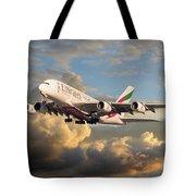 Emirates Airbus A380 Tote Bag