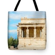Erechtheion Temple On Acropolis Hill, Athens Greece. Tote Bag