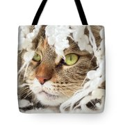 Face Sleeping Cat Tote Bag