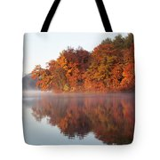 Fall Sunrise At Cox Hollow Lake In Governor Dodge State Park Tote Bag