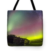 Fish-eye Lens View Of The Northern Tote Bag
