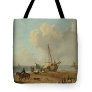 Fisherfolk Unloading Their Catch On Freshwater Bay Tote Bag