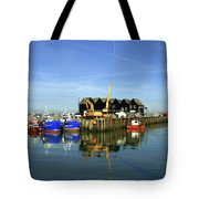 Fishing Boats At Whitstable Harbour 03 Tote Bag
