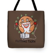 Flossing Tooth Tote Bag